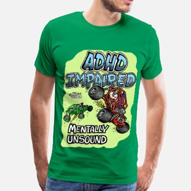 Rock Crawler ADHD Impaired rock crawler mentally unsound - Men's Premium T-Shirt