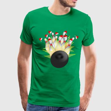 Christmas Bowling Strike - Men's Premium T-Shirt