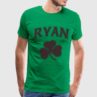 Ryan Irish Shamrock Family Heritage - Men's Premium T-Shirt
