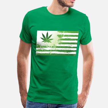 Weed Flag Weed Flag - Men's Premium T-Shirt