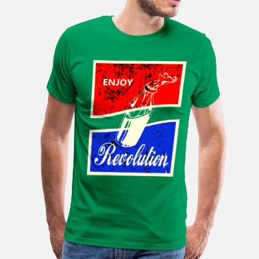Stencil Revolution ENJOY REVOLUTION - Men's Premium T-Shirt