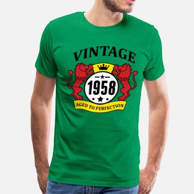 1958 Aged To Vintage 1958 Aged to Perfection - Men's Premium T-Shirt