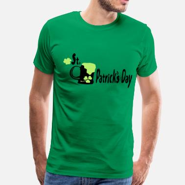 3xl Graphic green beer shamrock st.patrick's day - Men's Premium T-Shirt