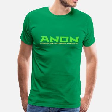4chan B Anon Preserving Internet Freedom For Dark Shirt - Men's Premium T-Shirt