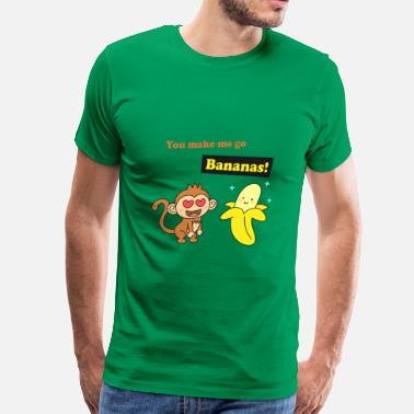 Dazzle make me go bananas, cute humor love - Men's Premium T-Shirt