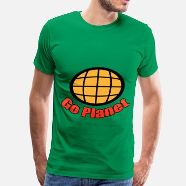 Captain Planet Go Planet - Captain - Planet - Planeteers - Men's Premium T-Shirt