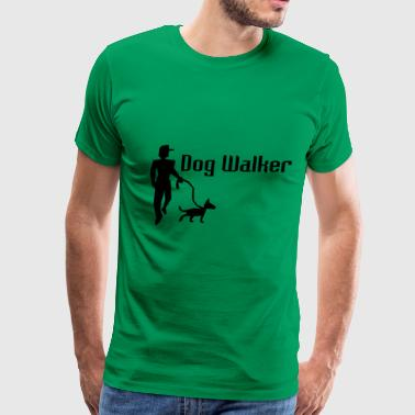 Template Design Dog Walker Design Template - Men's Premium T-Shirt