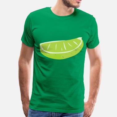 Lime Green Lime Wedge - Men's Premium T-Shirt