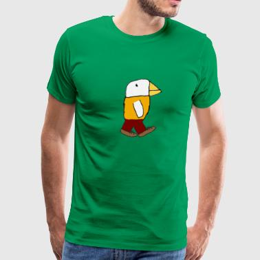 oskar's walking bird - Men's Premium T-Shirt