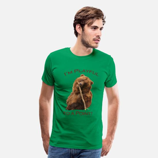 Playful T-Shirts - I'm Playful to a Point! - Men's Premium T-Shirt kelly green