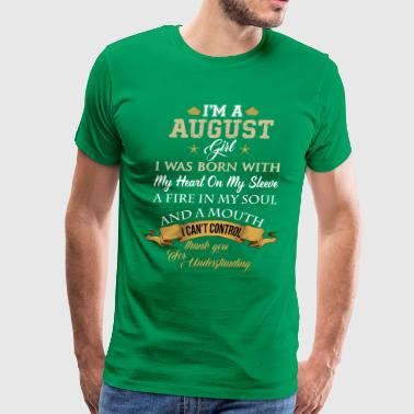 August Birthday August Angel August Girl - Men's Premium T-Shirt