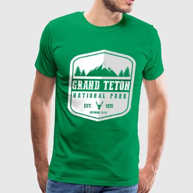 Grand Teton National Park - Men's Premium T-Shirt