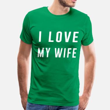 Funny Vegas I love when my wife let's me play golf - Men's Premium T-Shirt