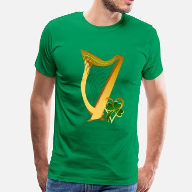 Celtic Irish gold Harp - Men's Premium T-Shirt