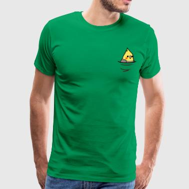 Too Many Birds Yellow Cockatiel - Men's Premium T-Shirt