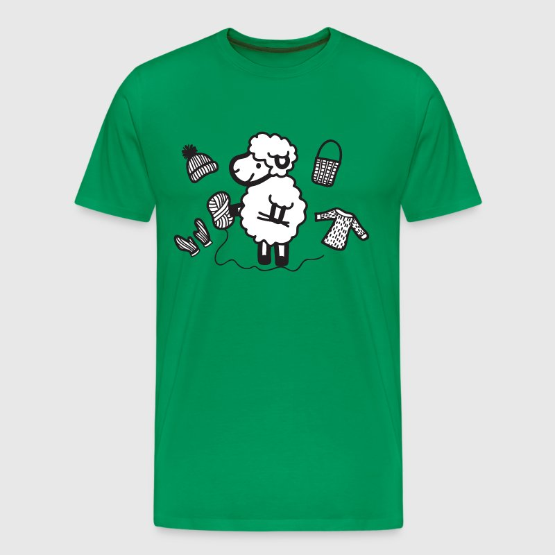 sheep - knitting  - Men's Premium T-Shirt