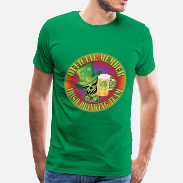 Drinking Skull Irish Drinking Skull - Men's Premium T-Shirt