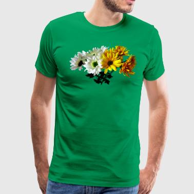 Bouquet of Yellow and White Daisies - Men's Premium T-Shirt