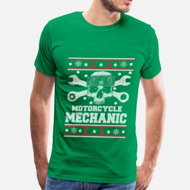 Motorcycle Mechanic Motorcycle mechanic-Mechanic christmas sweater - Men's Premium T-Shirt
