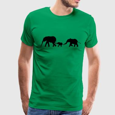 Elephants, Elephant - Men's Premium T-Shirt