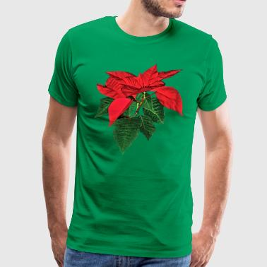 Three Christmas Poinsettias - Men's Premium T-Shirt
