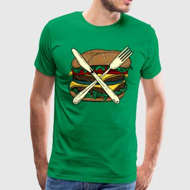 Burger X - Men's Premium T-Shirt