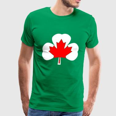Canada Ireland T-shirt for Canadian Irish people - Men's Premium T-Shirt
