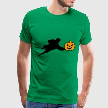 Halloween Soccer Player Goalkeeper - Men's Premium T-Shirt