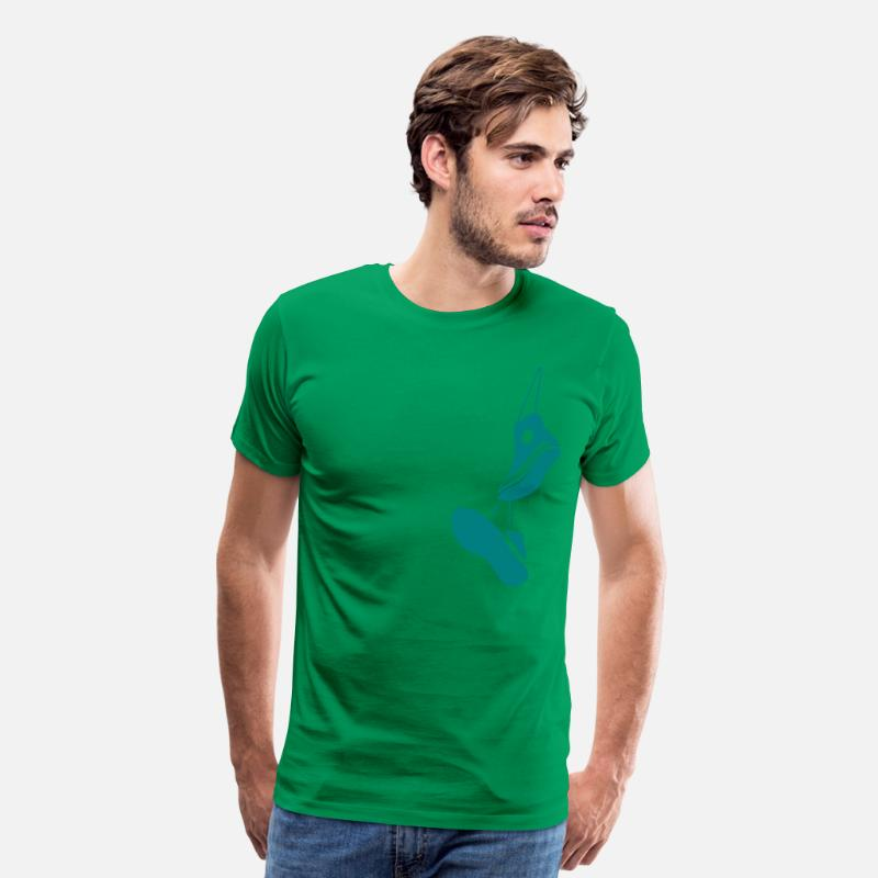 Bmx T-Shirts - Hanging sneakers - Men's Premium T-Shirt kelly green