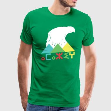 Amazigh Mountain Eagle Patriotic - Men's Premium T-Shirt