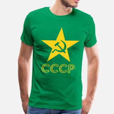 Socialist CCCP Hammer Sickle Star - Men's Premium T-Shirt