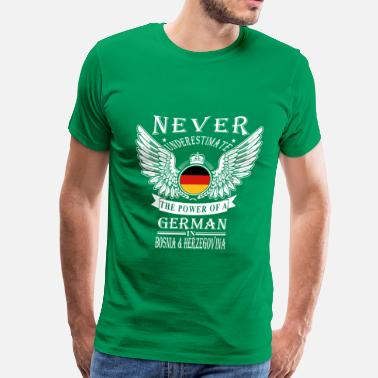 Germanic Tribes German-THe power of an German in Bosnia - Men's Premium T-Shirt