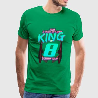 Lasertag - This King Is 8 Years Old - Men's Premium T-Shirt