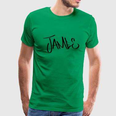 James Graffiti Name - Men's Premium T-Shirt