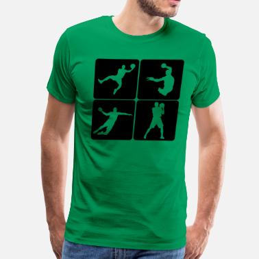 Trainer Handball Players Handball - Men's Premium T-Shirt