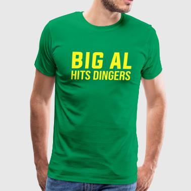 Big Al Hits Dingers Tee Shirt - Men's Premium T-Shirt
