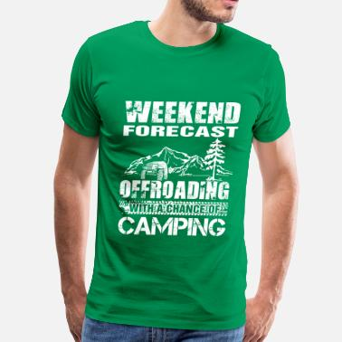 Bruce Campbell Camping-Offroading with a chance of camping - Men's Premium T-Shirt