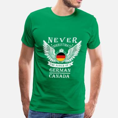 Germanic Tribes German-THe power of an German in canada - Men's Premium T-Shirt