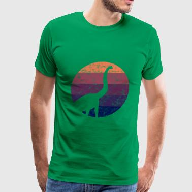 Dinosaurs - Sunset - Men's Premium T-Shirt