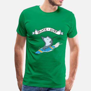 Surf Skate Skate Surf Fish Surfing - Men's Premium T-Shirt