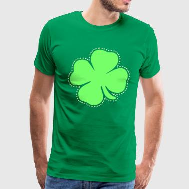 Shamrock St Patrick's Day clover good luck - Men's Premium T-Shirt