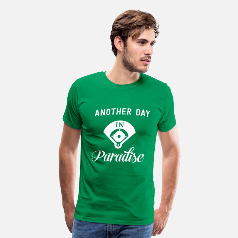 Baseball T-Shirts - Another day in paradise - Men's Premium T-Shirt kelly green