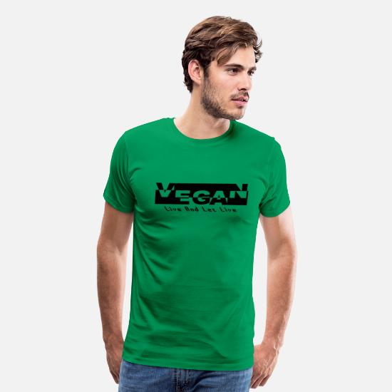 Vegan T-Shirts - Vegan Live And Let Live - Men's Premium T-Shirt kelly green