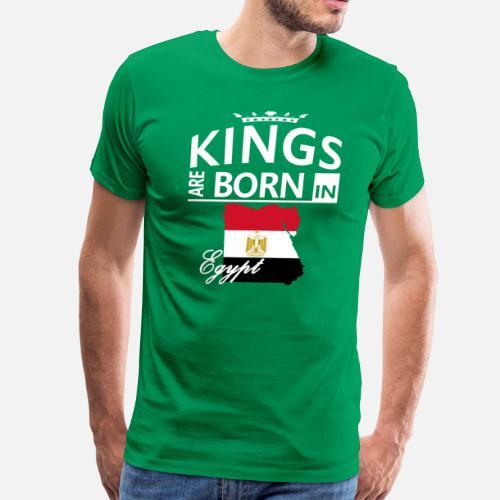 Egypt Born Kings Dad Husband Cool Birthday GiftMens Premium T Shirt