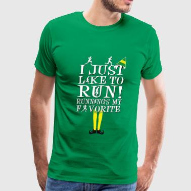Runner Stuff run- I just like to run running's my favorite - Men's Premium T-Shirt