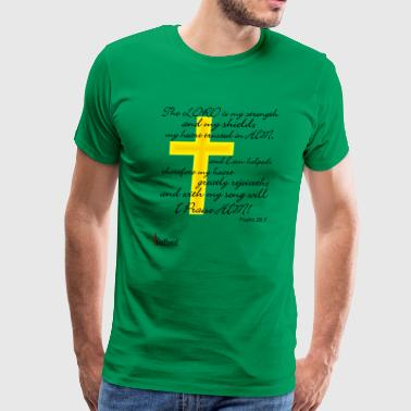 Psalms 28:7 - Men's Premium T-Shirt