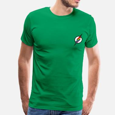 Gay Superhero Flash LGBT Logo - Men's Premium T-Shirt