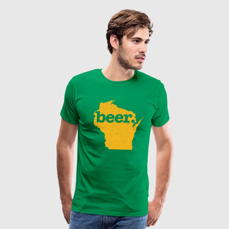 Green Bay Beer Cheesehead - Men's Premium T-Shirt