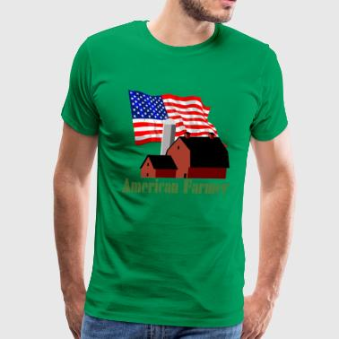 Rural America American Farmer - Men's Premium T-Shirt
