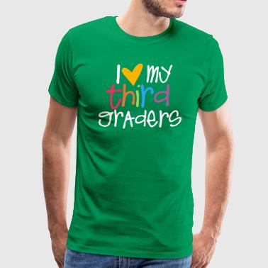love my third graders teacher shirt - Men's Premium T-Shirt